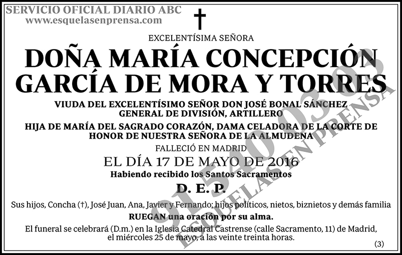 María Concepción García de Mora y Torres